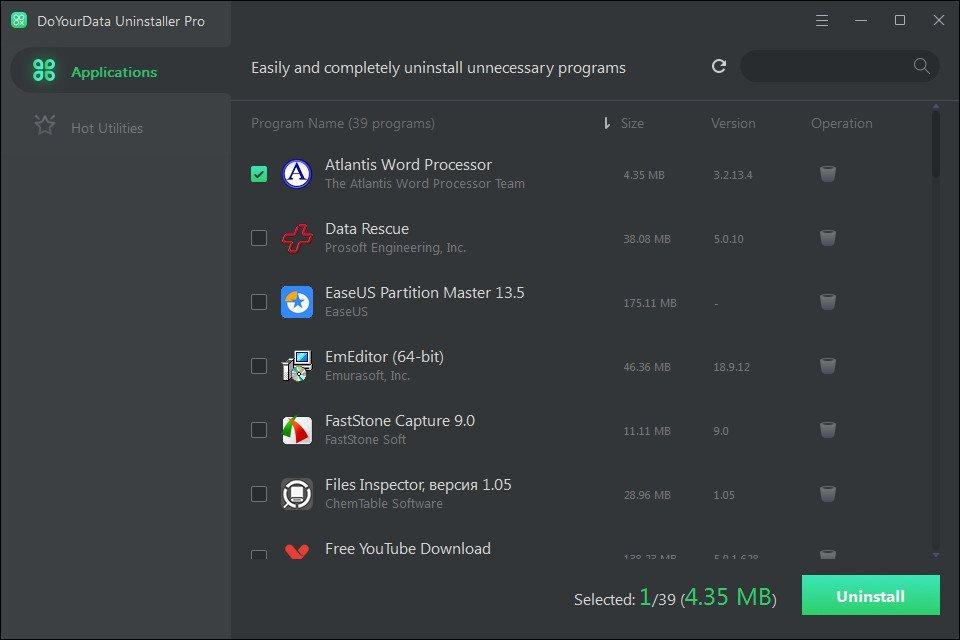 DoYourData Uninstaller Pro 5.0